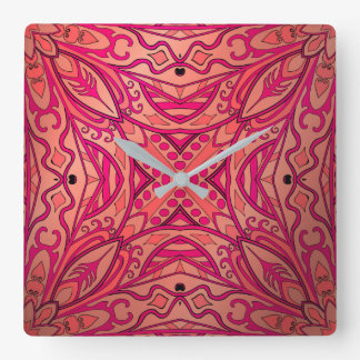 Beautiful complicated pink moroccan ornament clocks