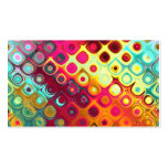 Beautiful cool abstract squares circles glass glow pack of standard business cards