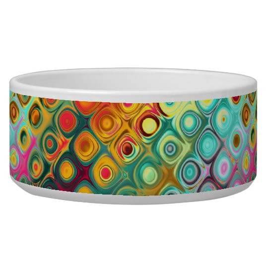 Beautiful cool abstract squares circles glass glow dog