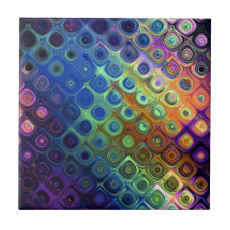 Beautiful cool abstract squares circles glass glow tile