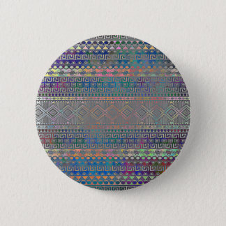Beautiful cool colourful Aztec geometric pattern 6 Cm Round Badge