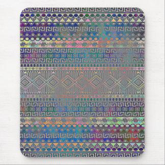 Beautiful cool colourful Aztec geometric pattern Mouse Mat