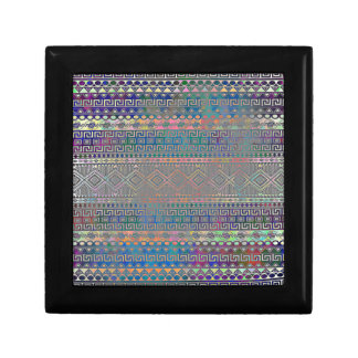 Beautiful cool colourful Aztec geometric pattern Small Square Gift Box