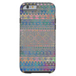 Beautiful cool colourful Aztec geometric pattern Tough iPhone 6 Case
