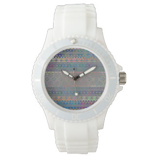 Beautiful cool colourful Aztec geometric pattern Watch