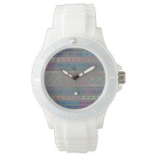 Beautiful cool colourful Aztec geometric pattern Wrist Watch