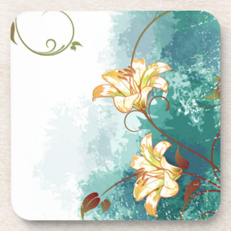 Beautiful cool different blue tones watercolour coaster