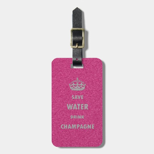 Beautiful cool girly save water drink champagne cr