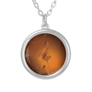 Beautiful cool glowing fire colours effects music silver plated necklace