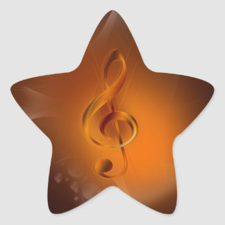 Beautiful cool glowing fire colours effects music star sticker