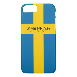 Beautiful Cool Patriotic Monogram Flag of Sweden iPhone 8/7 Case