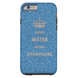 Beautiful cool save water drink champagne crown tough iPhone 6 case