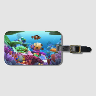 Beautiful Coral Bliss Luggage Tag