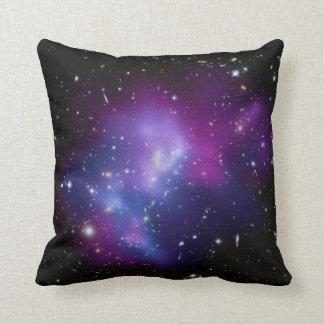 Beautiful cosmic space galaxy clusters cushion