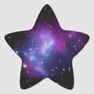 Beautiful cosmic space galaxy clusters star sticker