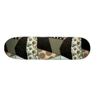 Beautiful Country Patchwork Quilt Custom Skate Board