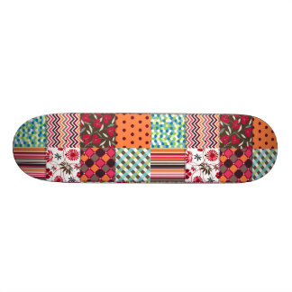 Beautiful Country Patchwork Quilt 21.6 Cm Skateboard Deck