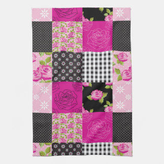 Beautiful Country Patchwork Quilt Tea Towel