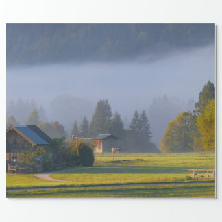 Beautiful Country Scenic Outdoors Photo Cabin Gift Wrapping Paper