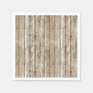 Beautiful Country Shabby Chic Rustic Wood Disposable Napkin