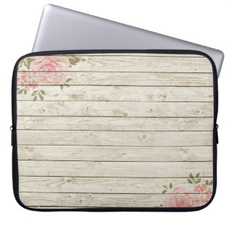 Beautiful Country Shabby Chic Rustic Wood Laptop Sleeve