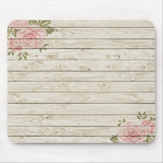 Beautiful Country Shabby Chic Rustic Wood Mouse Mat