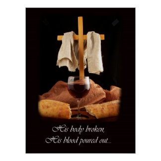 Beautiful Cross and Communion Poster