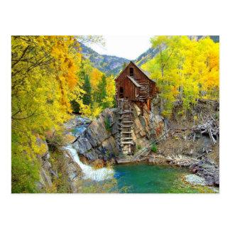 Beautiful Crystal Mill in Colorado Postcard