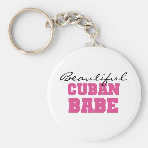 Beautiful Cuban Babe Keychain