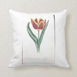 Beautiful cushion with vintage Tulip illustration