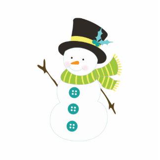 Beautiful Custom Christmas Holiday Snowman Acrylic Cut Out