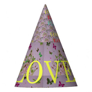 Beautiful Custom Love Eat Play Party time ideas Party Hat