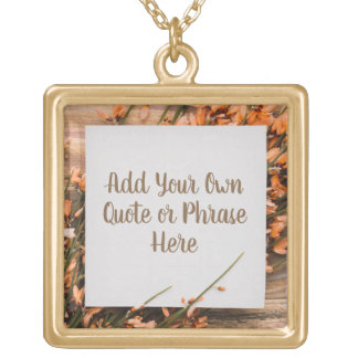 Beautiful Custom Text Rustic necklace