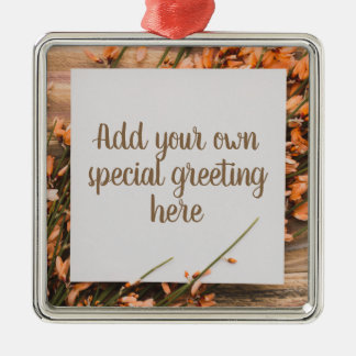 Beautiful Custom Text Rustic ornament