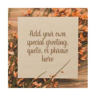 Beautiful Custom Text Rustic wood panel