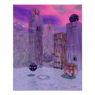 Beautiful Cut Glass Abstract Surreal Poster