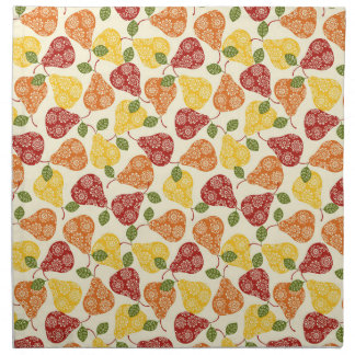 Beautiful Cute pears in autumn colors Napkin