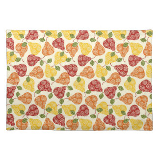 Beautiful Cute pears in autumn colors Placemat