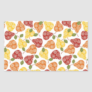 Beautiful Cute pears in autumn colors Rectangular Sticker