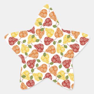 Beautiful Cute pears in autumn colors Star Sticker
