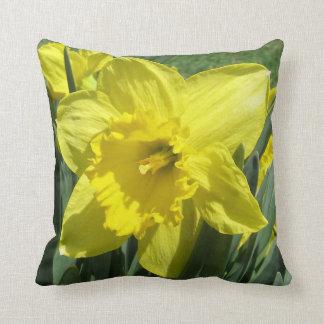 Beautiful daffodil throw pillow