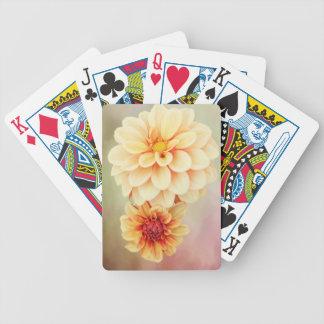 Beautiful Dahlia Blossoms in Warm Hues Poker Deck