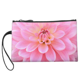 Beautiful Dahlia (closeup) Wristlet Purses