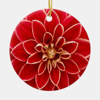Beautiful Dahlia Flower Petals Design Round Ceramic Decoration