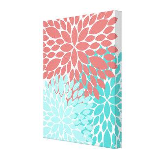 Beautiful Dahlia Flower Print Canvas Art