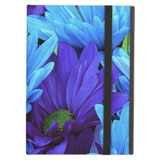 Beautiful Daisies in Indigo Blue, Chartreuse Green iPad Air Cover