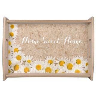 Beautiful daisies serving tray