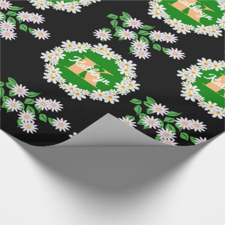 Beautiful Daisies w/Monogram & Name Wrapping Paper