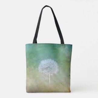Beautiful Dandelion Wish Painterly Design Tote Bag