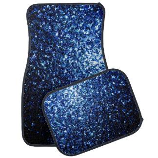 Beautiful Dark Blue glitter sparkles Car Mat